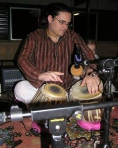 """Action shot"" of me playing the tabla"