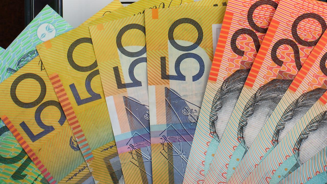 A photo of Australian bank notes