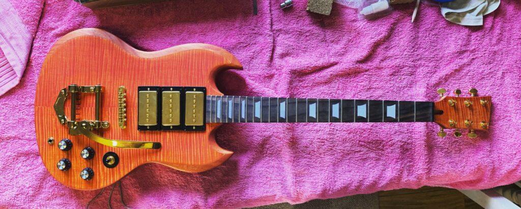 Guitar build in progress